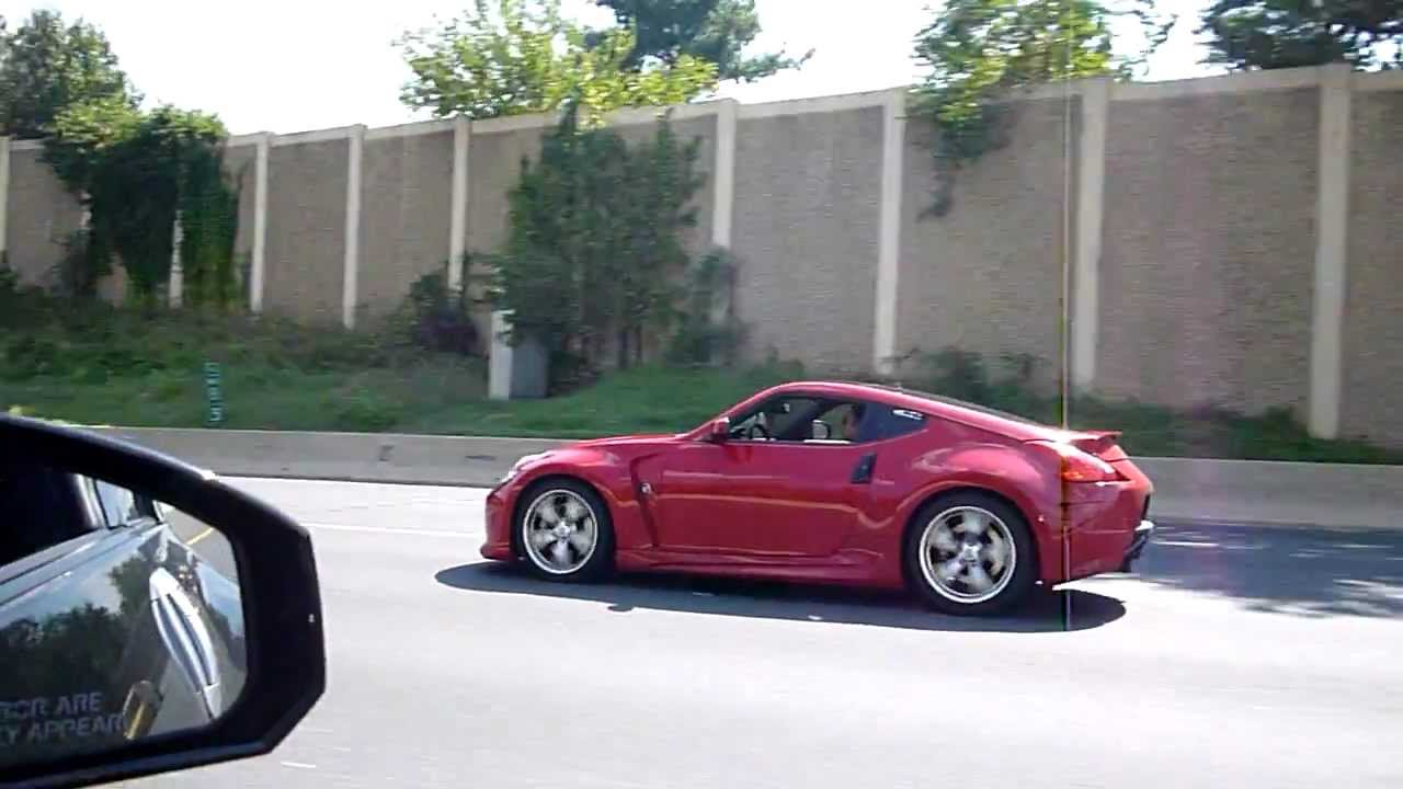 Nice Red 370z With Amuse Bodykit