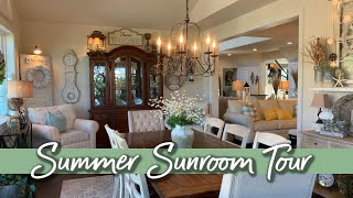 SUMMER 🏖 HOME TOUR:EPISODE 3 - THE SUNROOM!!☀️