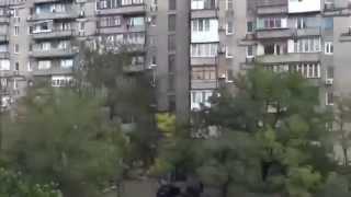 Бой ранним утром с улиц Донецка. АТО