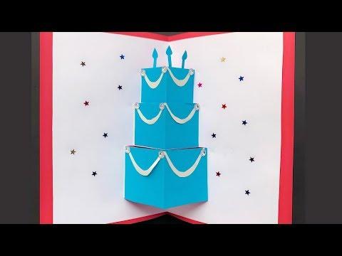 DIY Pop Up Cake Card - Easy Birthday Card Tutorial
