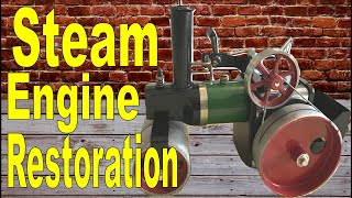 Restoration of a steam engine 1961 restoring old English toys and tools restoration project