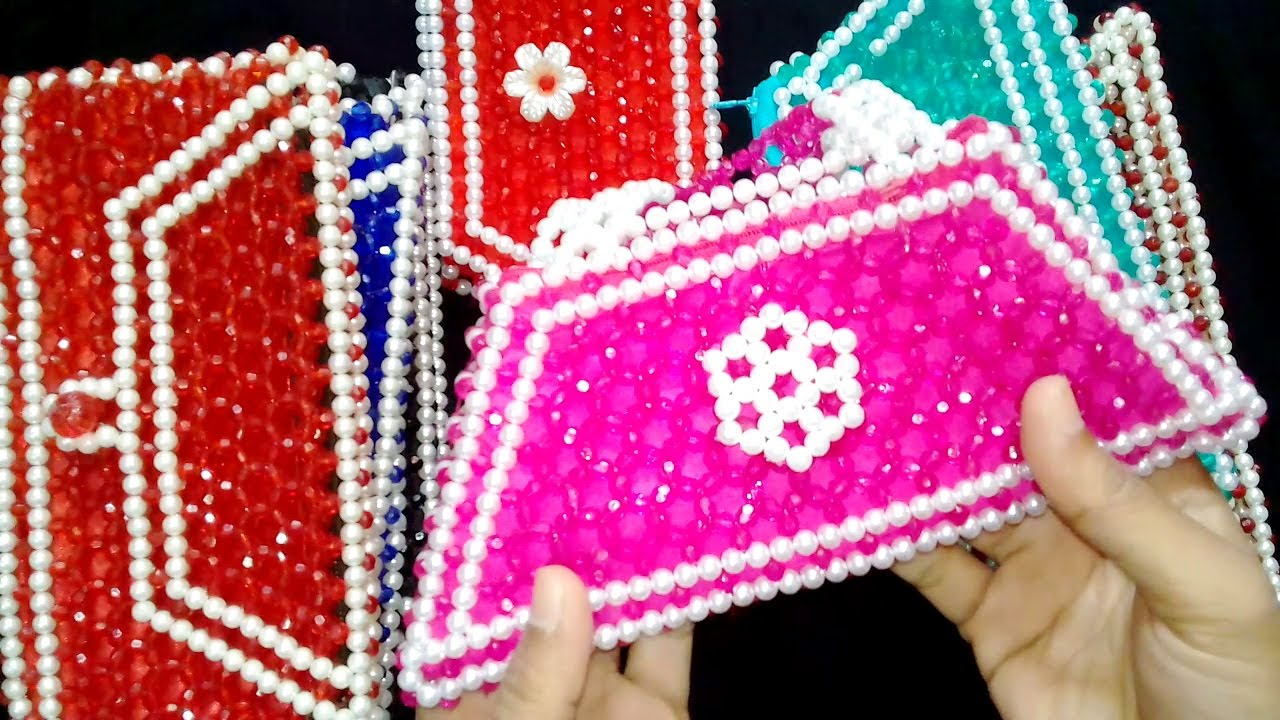 How To Make Crystal Beaded Purse | Beaded Bags And Purses | Beads ...