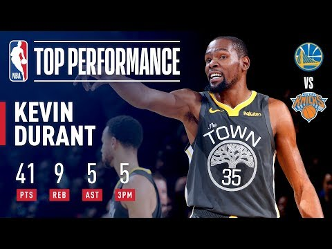 Kevin Durant Drops 41 In The GARDEN | October 26, 2018