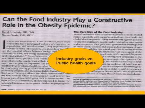 Marion Nestle - Global Nutrition: From Science to Politics