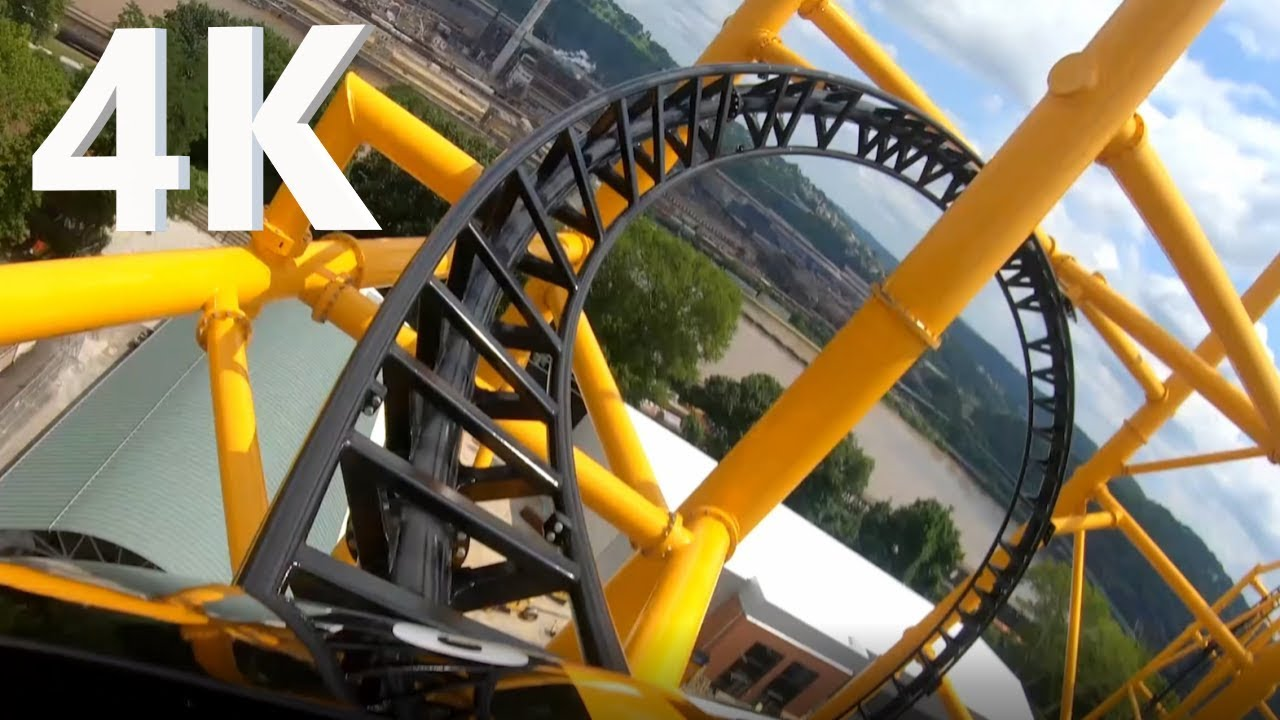Steel Curtain POV, 4K - Kennywood - Pittsburgh, PA - Front On Ride + Rider View