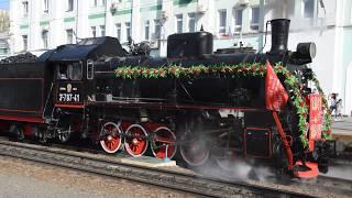 Ретро-поезд «Воинский эшелон» в Саратове 4 мая 2018 года
