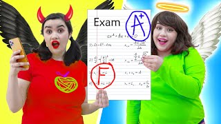 ANGEL VS DEMON STUDENT | CRAZY GOOD & BAD CONTROL RULE MY SCHOOL LIFE BY CRAFTY HACKS