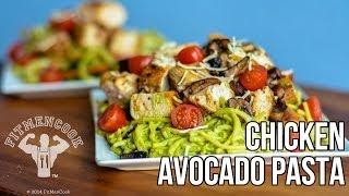 Chicken Avocado Pasta Recipe For Fat Loss & Hardgainer / Pasta De Aguacate Con Pollo