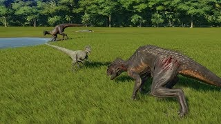 4 Velociraptor(Modifed) VS 10 Indoraptor - Jurassic World Evolution