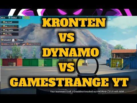 PUBG MOBILE : KRONTEN vs DYNAMO vs Gamestrange Yt, Intense gaming | who will win ??