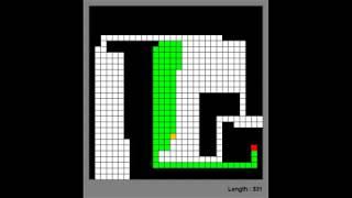 AI Plays Snake Using Pathfinding Video