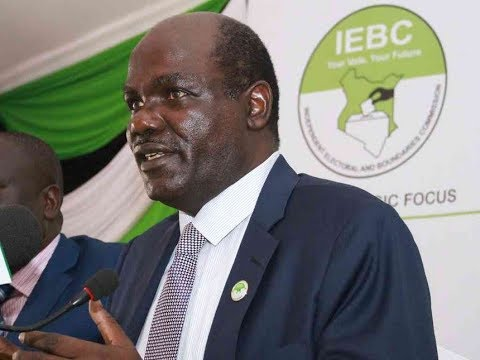 IEBC Chairman Wafula Chebukati's emotional reaction to Akombe's resignation