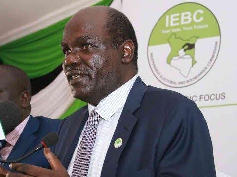 IEBC Chairman Wafula Chebukati's emotional reaction to Akombe's resignation