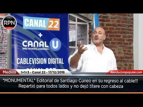 *MONUMENTAL* Editorial de Santiago Cúneo en su regreso al cable!!!