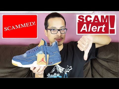 How I Was Scammed By An Ebay Seller! Air Jordan 4 Retro Levis NRG Real Vs Fake Review!!!