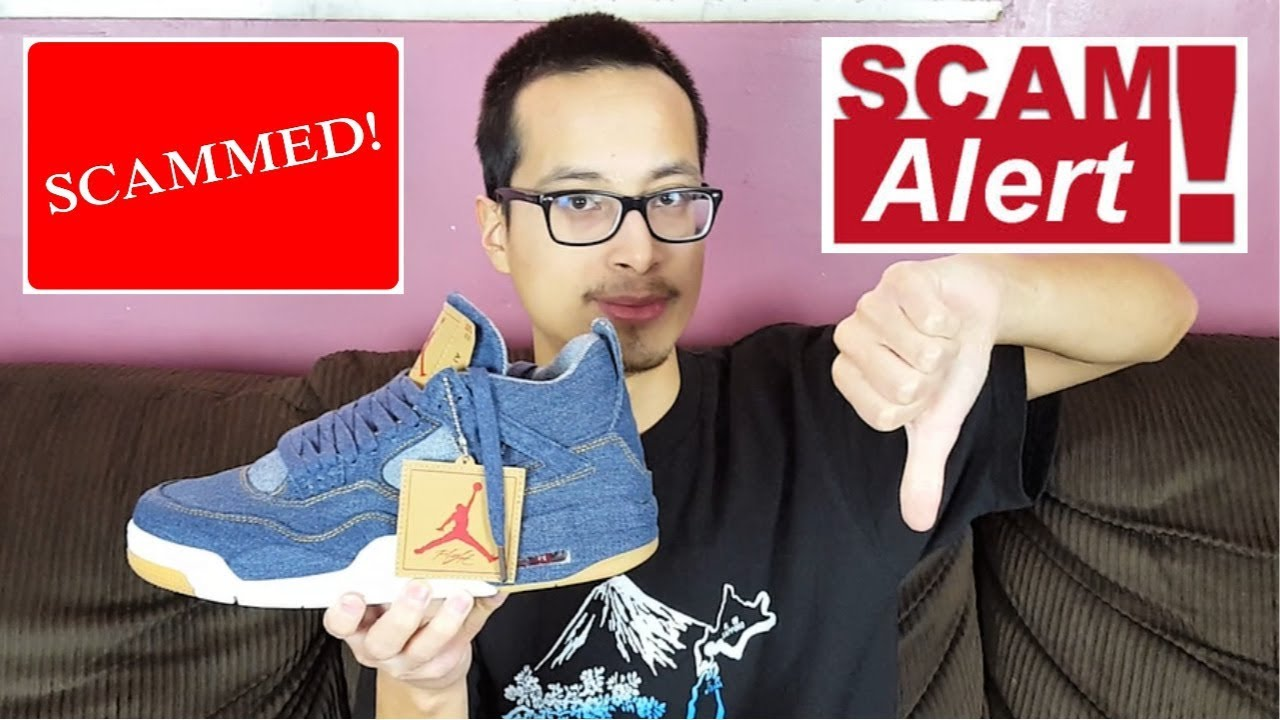 reputable site 59b03 2be54 How I Was Scammed By An Ebay Seller! Air Jordan 4 Retro Levis NRG Real Vs  Fake Review!!!