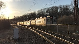 NJ Transit HD 60fps: Cool Spring Afternoon On The Morristown Line @ Denville (3/27/19)