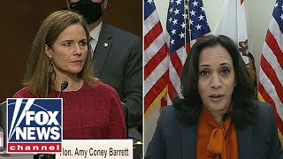 Kamala Harris grills Amy Coney Barrett on health care at confirmation hearing