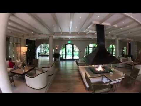 Let's take a tour of the Hotel Bel Air & gardens in the exclusive Bel Air area of Los Angeles.