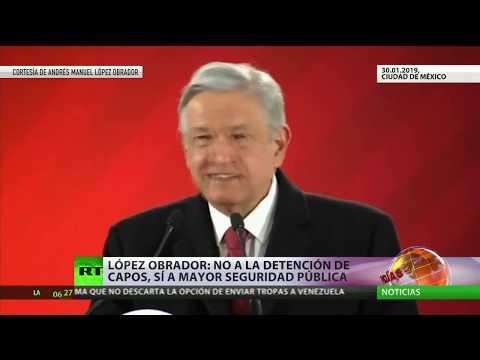 """López Obrador: """"No a la detención de capos, sí a una mayor seguridad pública"""""""