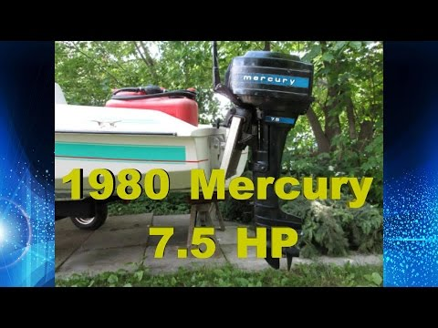 7.5 hp Mercury Outboard engine cold start & run, how to clean