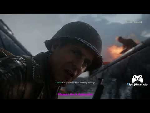 COD WWII gameplay ll Compaign ll Mission 1 ll D- Day ll part 1