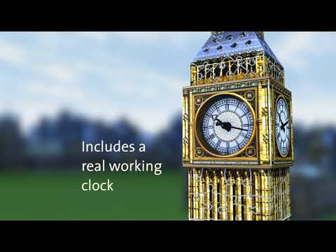 Ravensburger 3D pusle Big Ben töötava kellaga