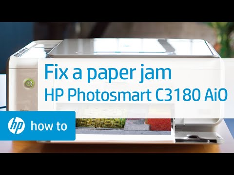 Fixing A Paper Jam | HP Photosmart C3180 All-in-One Printer | HP