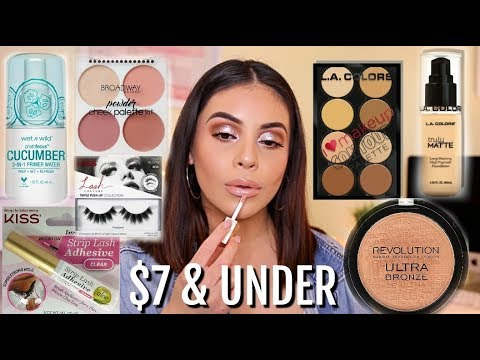 FULL FACE NOTHING OVER $7: AFFORDABLE MAKEUP TUTORIAL! | JuicyJas