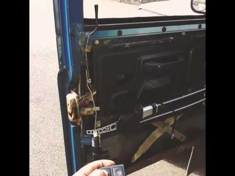 Land Rover Defender Power Door Locks Youtube