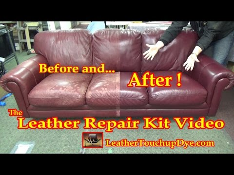Leather Repair Kit Video - YouTube