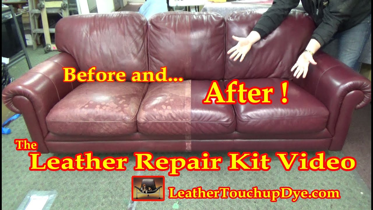 leather sofa repair kits for rips modern designs south africa kit video youtube
