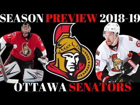 NHL Season Preview 2018-19 Ottawa Senators