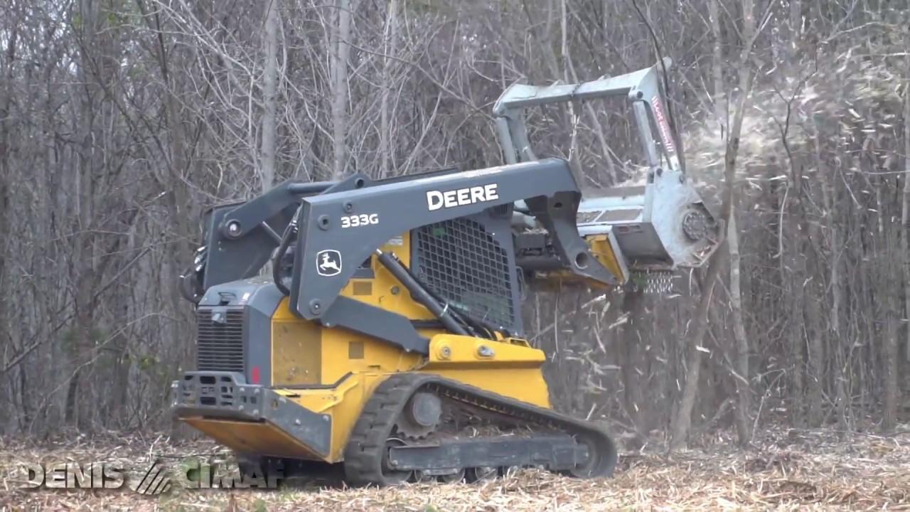 John Deere Skid Steer >> DAF-180D - John Deere 333G - DENISCIMAF.com - YouTube