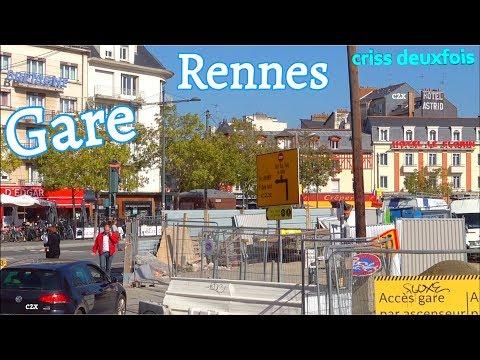 Station ; Place de la Gare en Travaux ; Rennes en Chantier ; Bretagne ; France