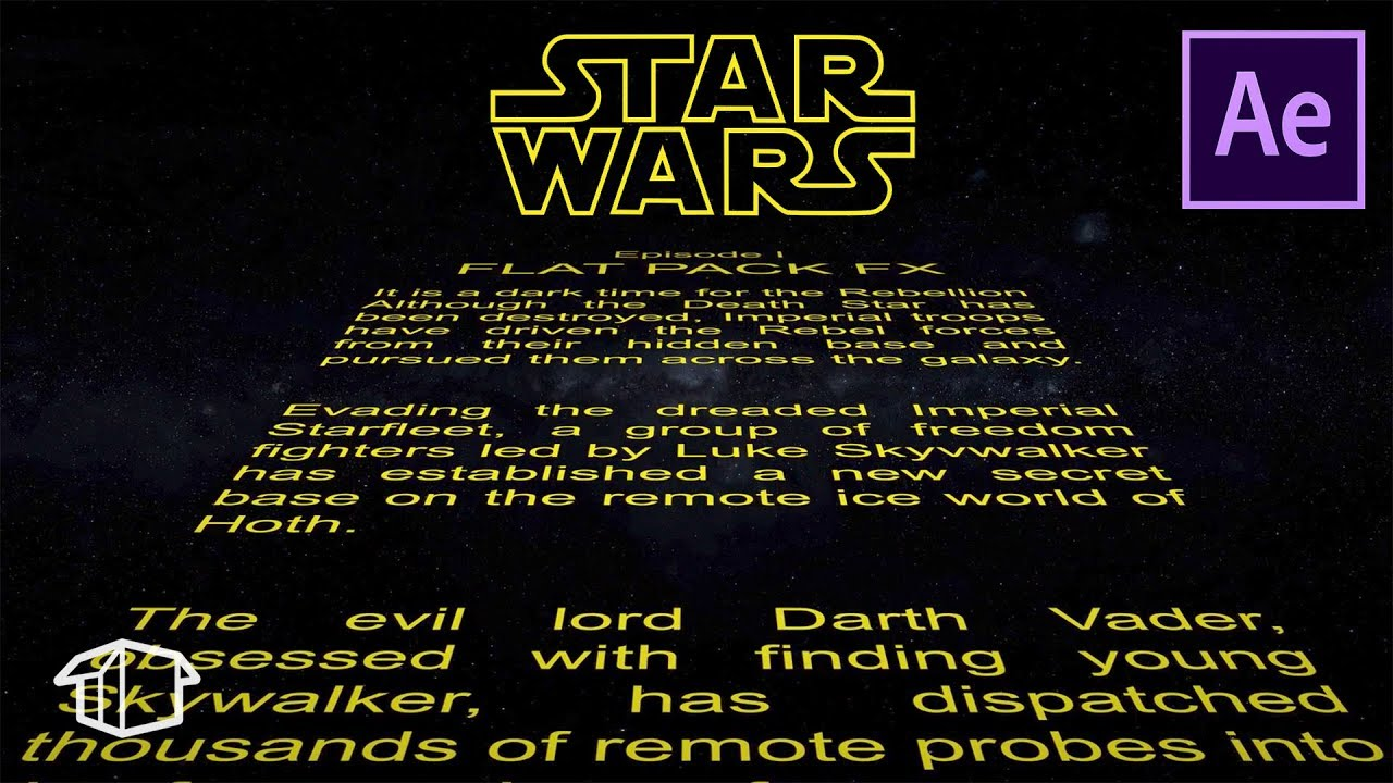 how to make horizontal star wars title crawl template after effects cs6 youtube. Black Bedroom Furniture Sets. Home Design Ideas