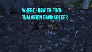 WoW - Where/How To Find Thalorien Dawnseeker