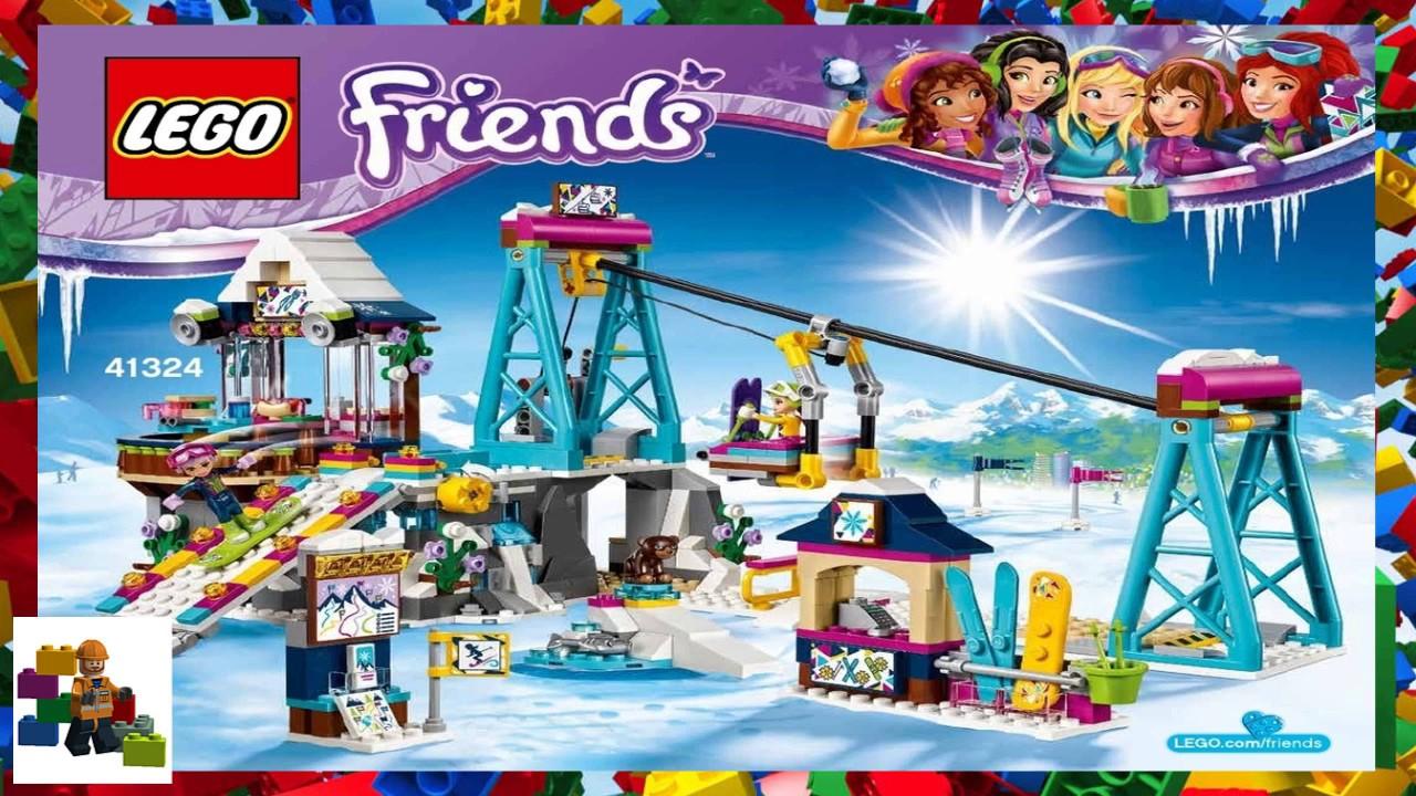 lego instructions - friends - 41324 - snow resort ski lift - youtube
