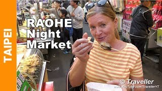 Massive Taipei Night Market Tour - All (Almost) the Street Food at Raohe Night Market - 饒河夜市
