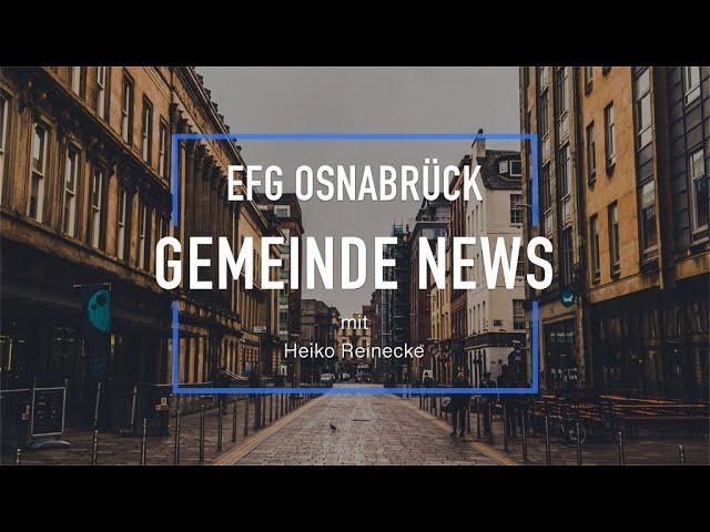Gemeinde NEWS mit Heiko Reinecke // 31.03.2020 #2
