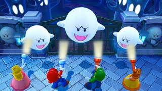Mario Party 10 Minigames - Mario vs Peach vs Luigi vs Daisy
