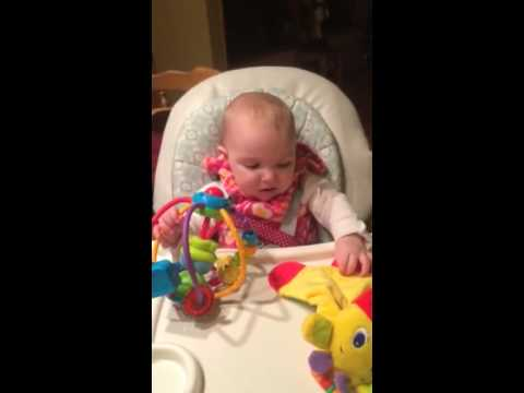 High chair toy play