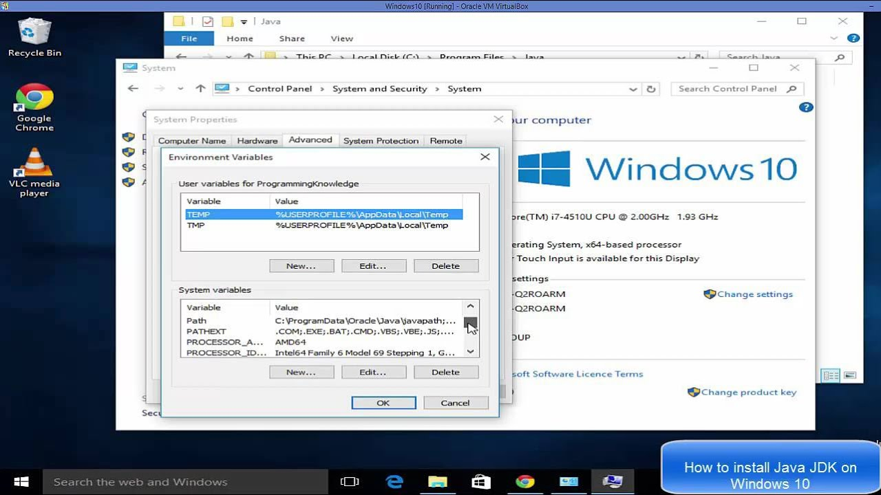 How To Download And Install Java on Windows 10 ( Java JDK ...