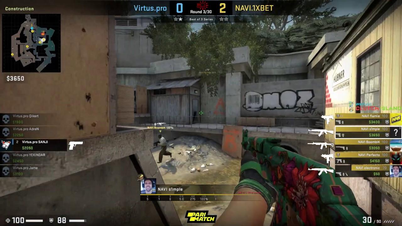 CS:GO POV Demo Na'Vi S1mple (27/11) vs Virtus Pro (de_overpass)
