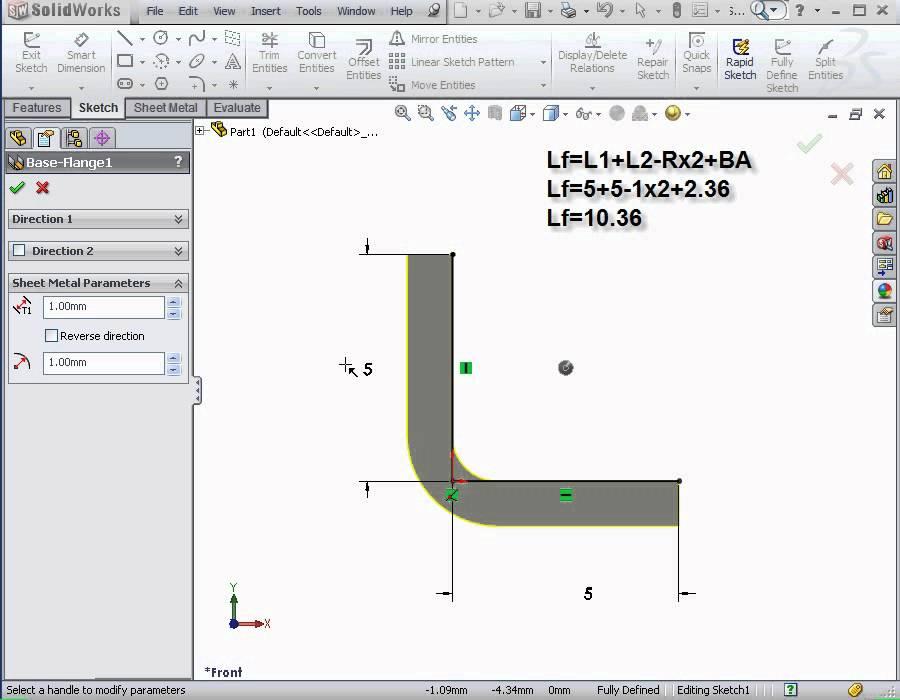 Solidworks Tutorial Sheet Metal Basic Training
