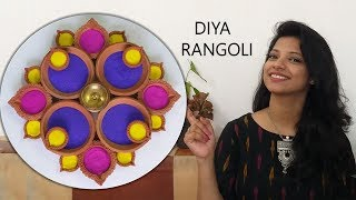 Diwali decoration hack - ideas easy, beautiful and innovative Diya rangoli DIY 2018 ,Ask Iosis Hindi