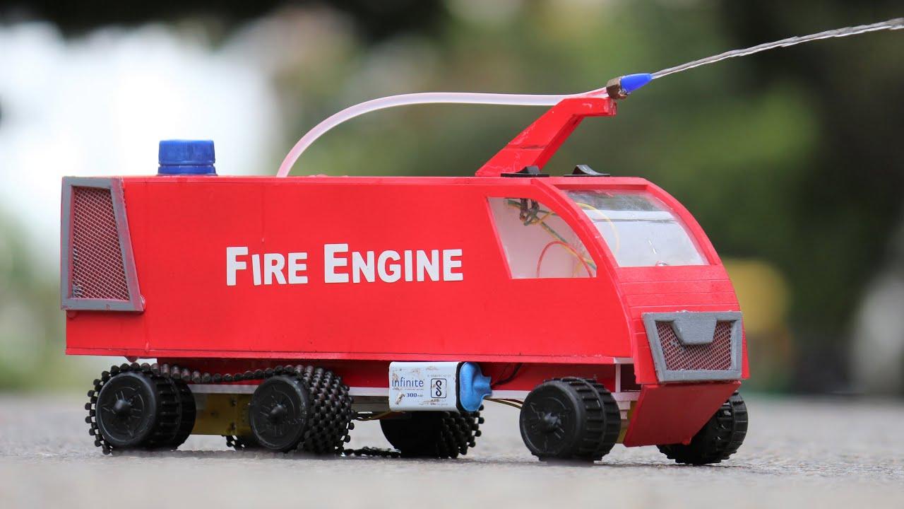 How to make a Fire Engine - Homemade  DIY Truck