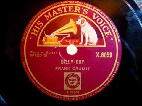 Frank Crumit - Billy Boy - Vortragsstück - 1931