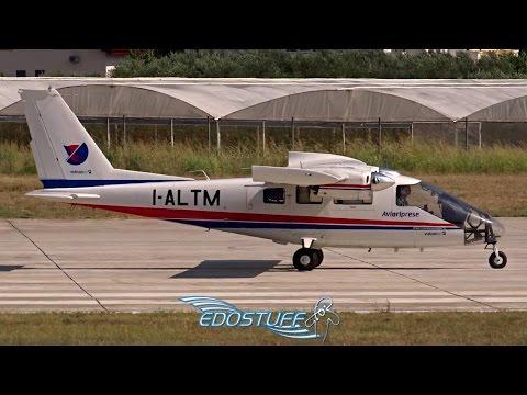 Rare! Avioriprese - Partenavia P-68 Observer 2 I-ALTM - Takeoff from Split airport LDSP/SPU