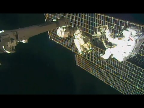 Spacewalk underway to fix cosmic ray detector